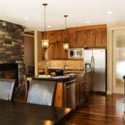 kitchen of luxury home