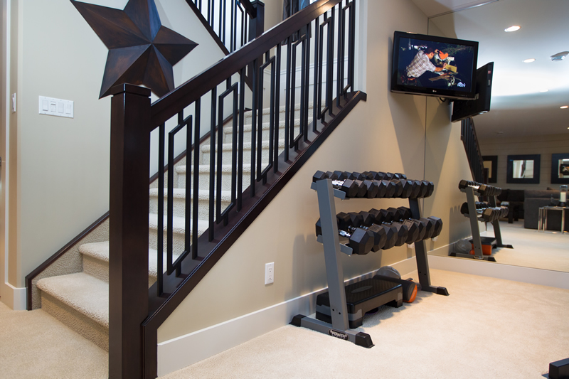 The Soho – Basement Workout Room – Natural light floods this Workout space. A mirrored wall and 9' ceiling height will give you a comfortable space to exercise.