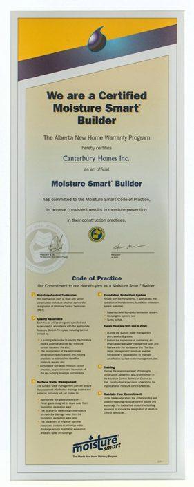 Certified Moisture Smart Builder